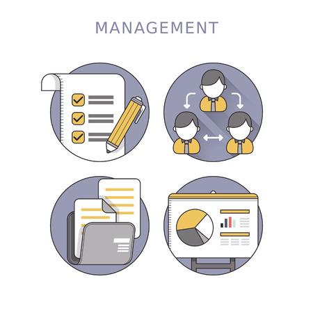 management concept: concepto de gesti�n empresarial en el estilo de l�nea delgada