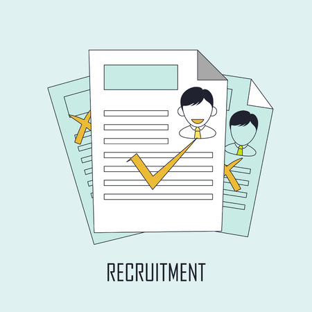 finding: finding job concept: recruitment in line style