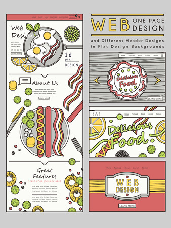 www tasty: creative one page website design template with delicious dishes