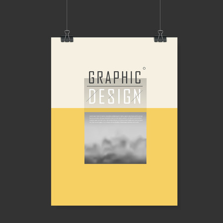 playbill: elegant poster template design with blurred scenery in beige and yellow