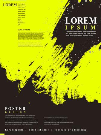 aantrekkelijk affiche template design met Chinese kalligrafie penseelstreken elementen