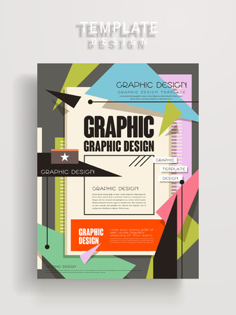 playbill: lovely poster template design with colorful geometric elements