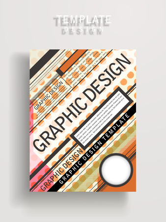 playbill: modern poster template design with colorful geometric elements