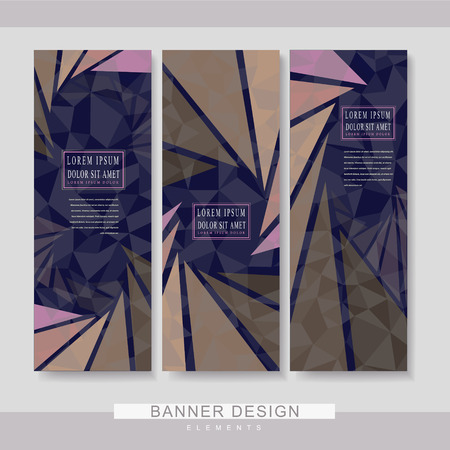 BANNER DESIGN: modern banner template set design with polygon elements
