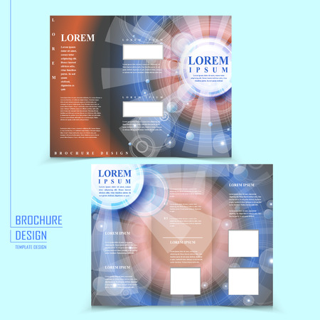 translucent: modern tri-fold template design with translucent geometric elements