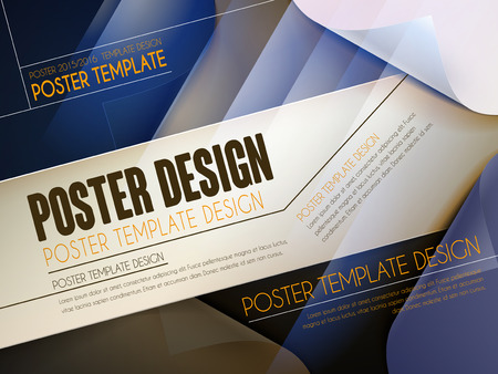 modern poster template design with geometric background