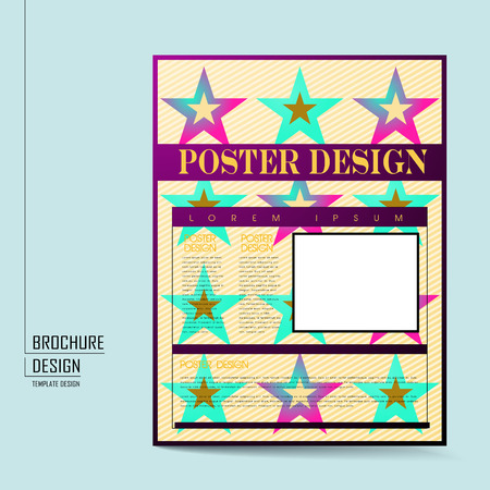 playbill: modern poster template design with colorful stars elements Illustration