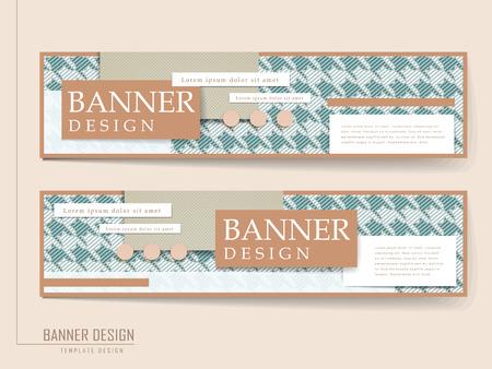 houndstooth: elegant banner template design with houndstooth pattern Illustration