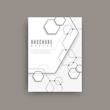 and simplicity: simplicity hexagon element poster design isolated on grey