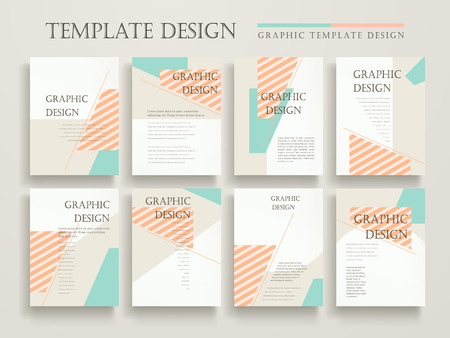 poster design: elegant poster template design with colorful geometric elements