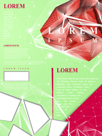 gorgeous: gorgeous poster template design with exquisite diamond elements