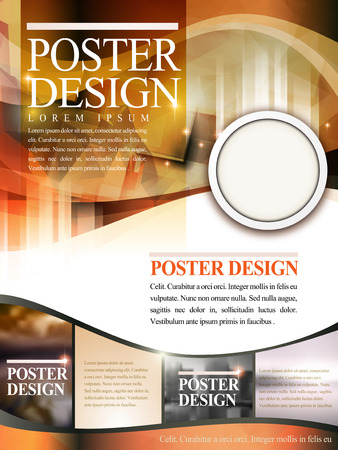 translucent: modern poster template design with glitter translucent blurred background Vettoriali