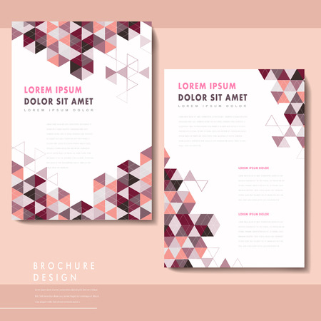 trendy brochure template design with triangle elements