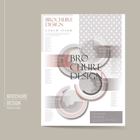 layout: elegant brochure template design with geometric elements in grey