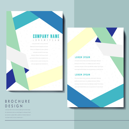 simplicity: simplicity brochure template design with paper folded elements