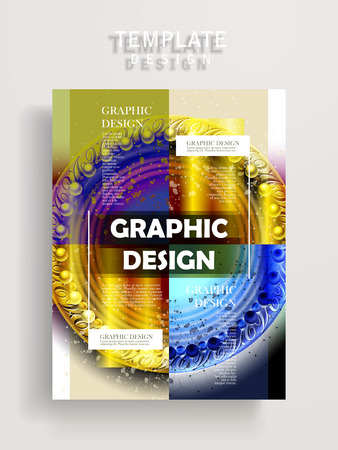 playbill: modern poster template design with glossy translucent circular elements Illustration