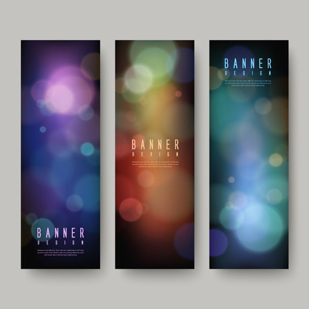gorgeous: gorgeous sparkling banners set isolated over grey