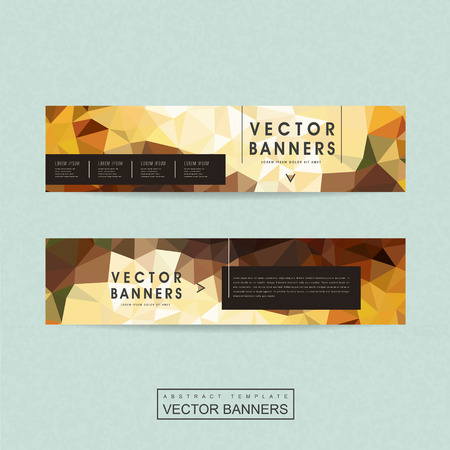ad: gorgeous banner template set design with polygon elements
