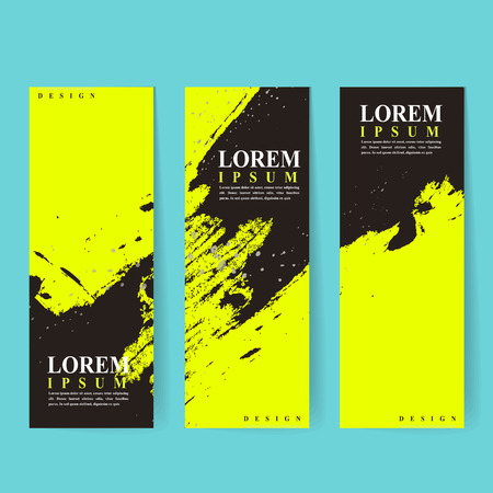 poetic: attractive banner template design with Chinese calligraphy brush strokes elements Illustration