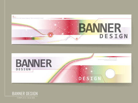 abstract banner template design with glitter polygonal elements