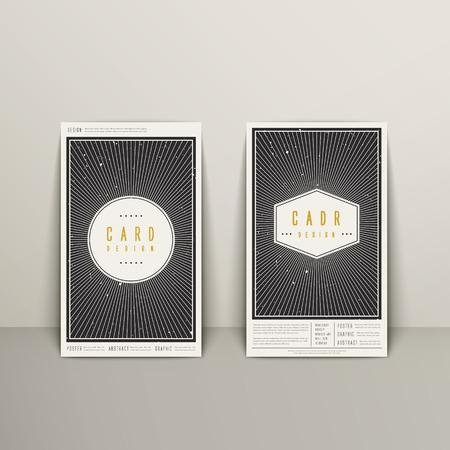グレーに分離されたトレンディな幾何学的要素のビジネス カードのデザイン