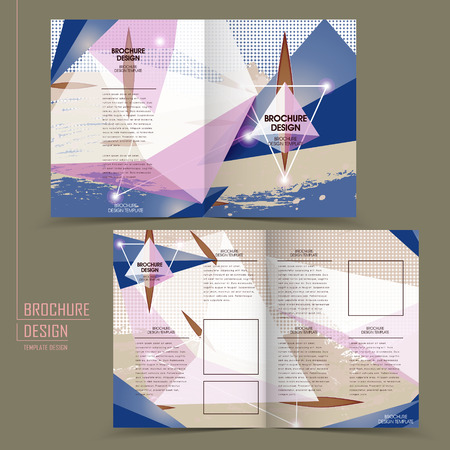 translucent: modern half-fold template design with translucent crystal elements