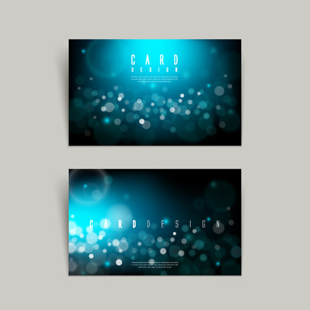 gorgeous sparkling blue business card design isolated over grey