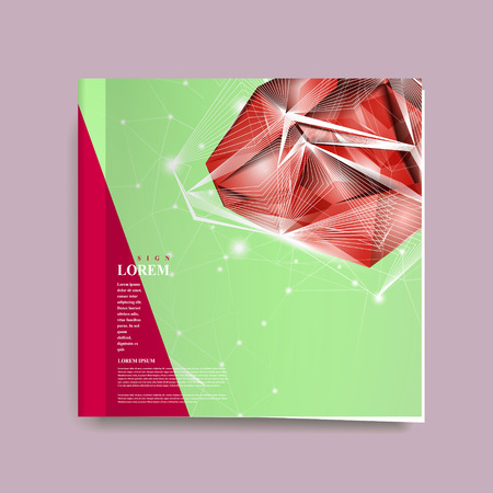 gorgeous: gorgeous book cover template design with exquisite diamond elements