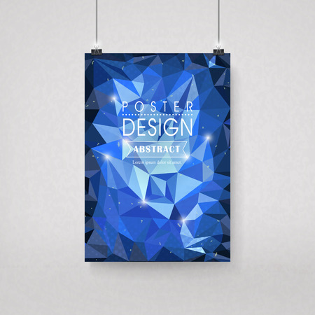 gorgeous: gorgeous poster template design with polygon elements