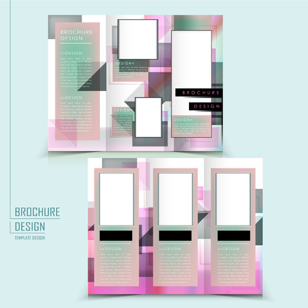translucent: abstract tri-fold template design with translucent geometric elements