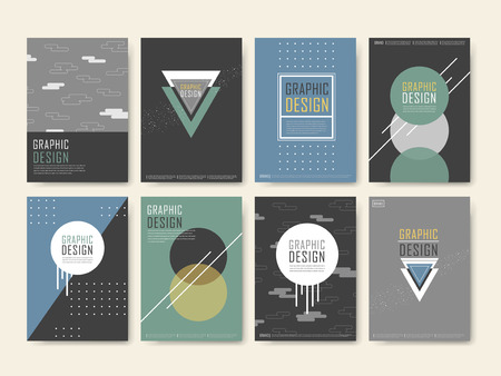 playbill: elegant poster template design set with geometric elements