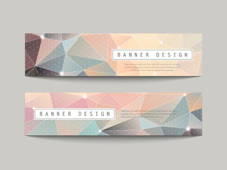 очаровательный: очаровательные геометрические баннеры поли стиль набора, изолированных на серый
