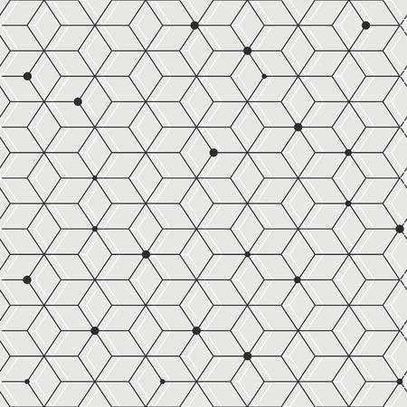 geometric elegant seamless pattern background in grey Ilustração