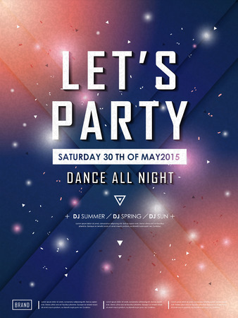 business event: fantastic party poster design with geometric background