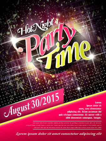 life event: gorgeous music party poster design with glitter effects