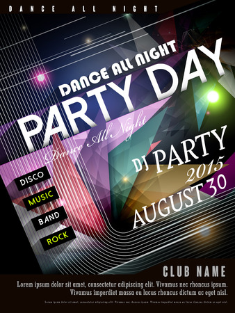 modern party poster design with geometric elements