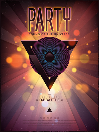 dancing: gorgeous music party poster design with geometric elements