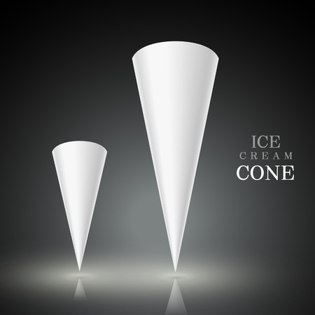 ice cream cup: blank ice cream cone isolated on black background