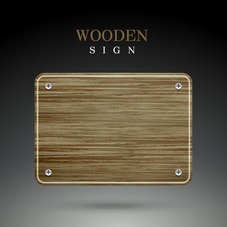 lege houten teken geïsoleerd op zwarte achtergrond