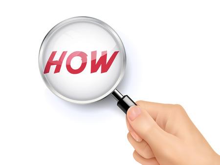 whose: come mostra attraverso la lente di ingrandimento tenuta a mano