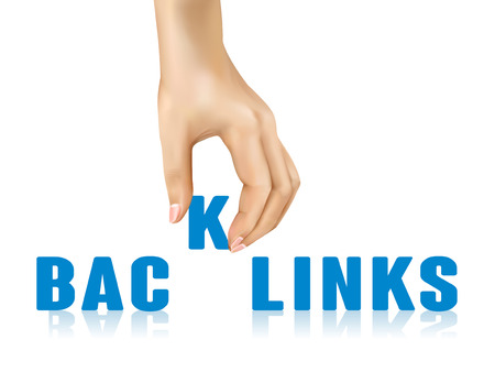 taken: backlinks word taken away by hand over white background Illustration