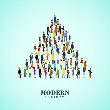 modern concept samenleving in flat 3d isometrische grafische