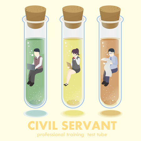 servant: professional civil servant concept in flat 3d isometric graphic