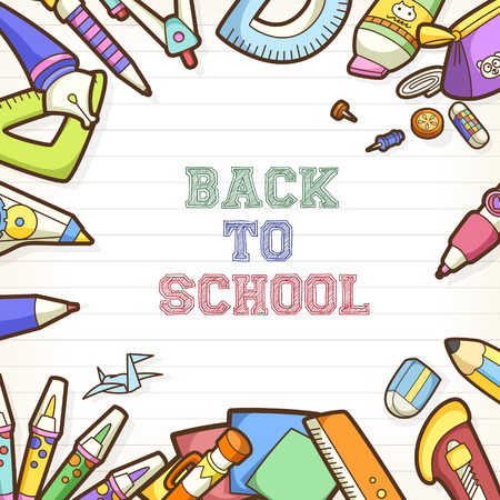 semester: back to school poster and banner design template Illustration