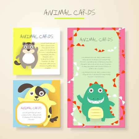 nutria caricatura: encantadores animales de dibujos animados personajes tarjetas colecciones establecen