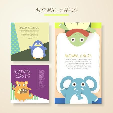 pinguino caricatura: encantadores animales de dibujos animados personajes tarjetas colecciones establecen