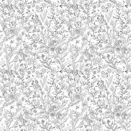 elegantní bezešvé květinovým vzorem barevné stránky v nádherné stylu