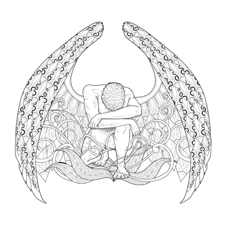 graceful man coloring page in exquisite style