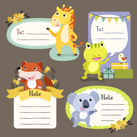 lovable: lovable diverse animals memo paper collection set