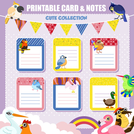 printable: lovely printable notes and card collection with birds
